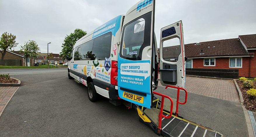Minibus donated to BARN charity in Redditch for the elderly and disabled