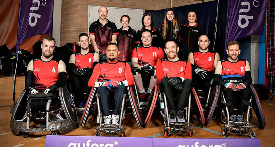 London Wheelchar Rugby Club Team Photo