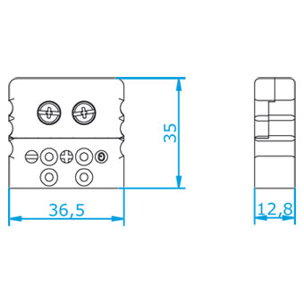 Axolia, Connector standard male RTD Connectors RTD