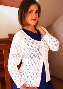 B0082 Ayahoda Women Knitwear Lacy Sweater Cardigan