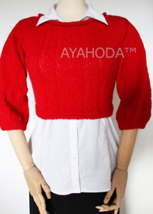 B0095 Ayahoda Women Knitwear Merino Sweater crop Jumper
