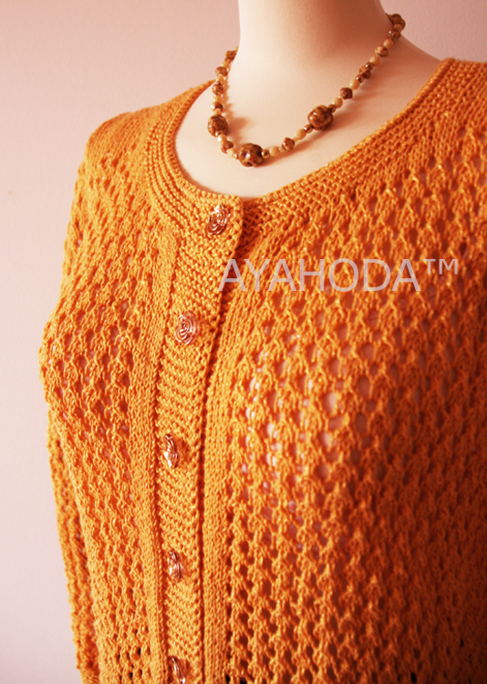 B0097 AYAHODA Handmade Designed Women Sweater Cardigan