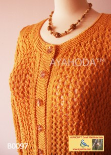 Women knitwear lacy sweater cardigan Ayahoda Handmade design