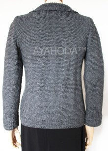 B0098 AYAHODA Handknit women cardigan jacket sweater