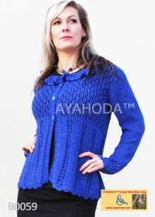 Women knitwear lacy sweatr cardigan Ayahoda design business knitwear