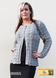 Women knitwear designed Lacy Cardigan sweater Ayahoda handmade