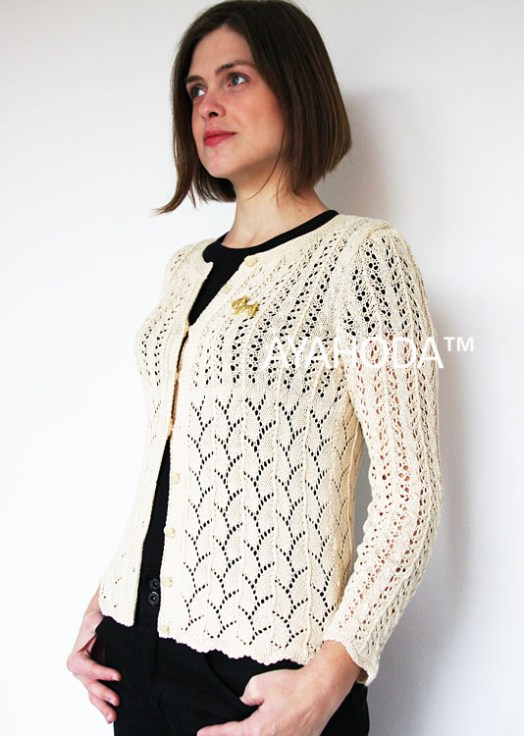 B0104_Ayahoda Handmade Designed women sweaters cardigans lacy