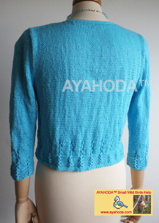 Ayahoda Handmade Women short Cardigan sweater