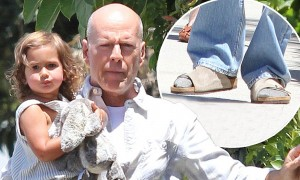 Bruce Willis and daugther Mabel out and about in West Hollywood