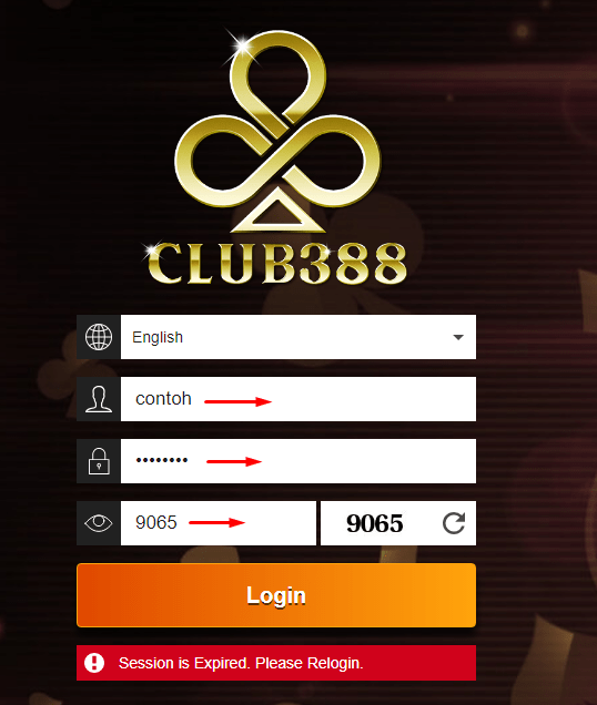 Cara Login Club388