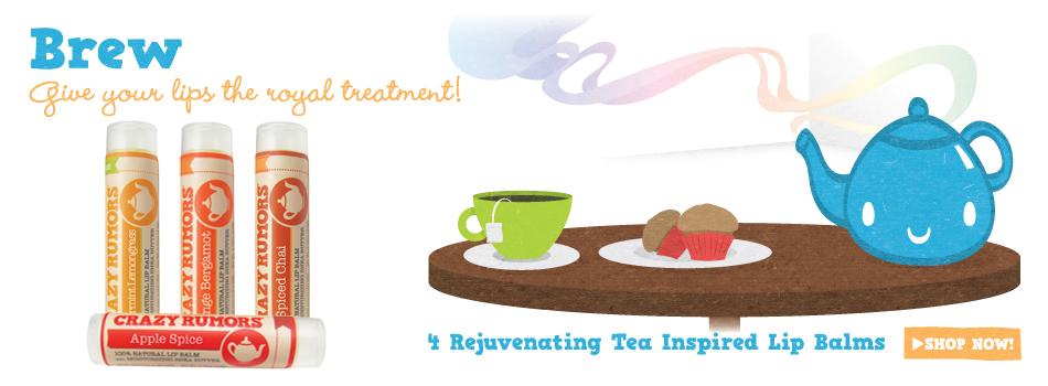 baume à lèvres crazy rumors collection thé