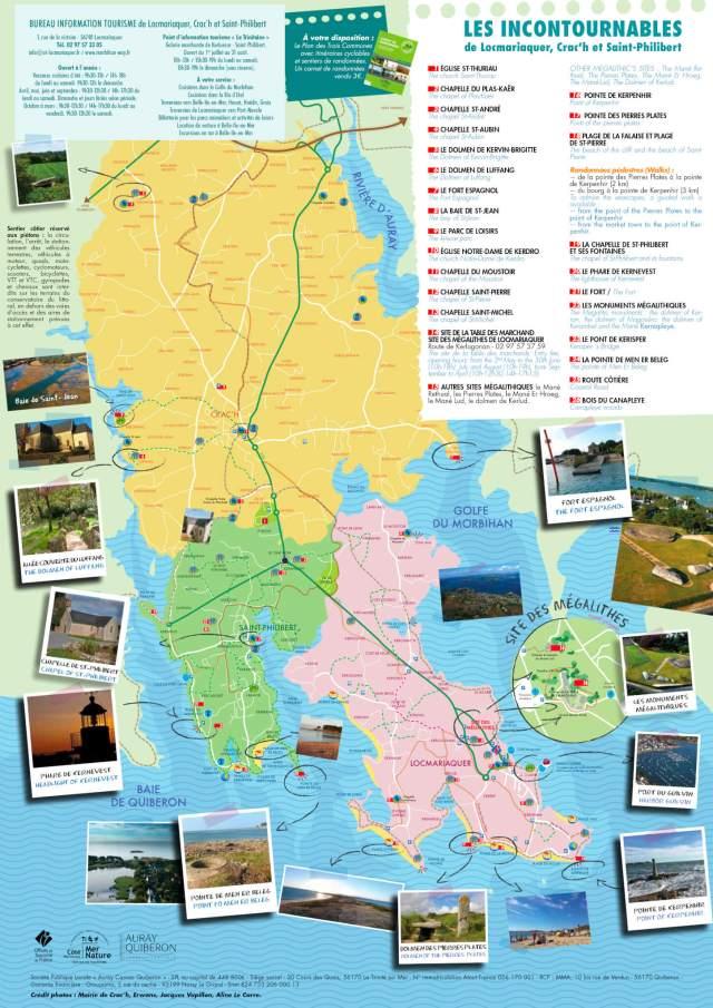 Office de Tourisme de Locmariaquer – Carte touristique