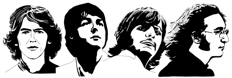 Beatles 1968 by Ayd Instone