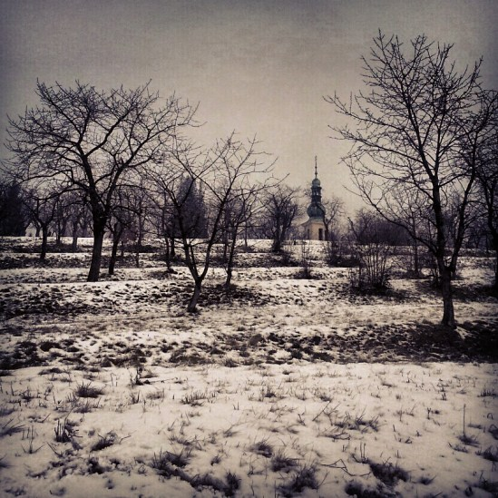 Hill Havlin in Zbraslav in snow