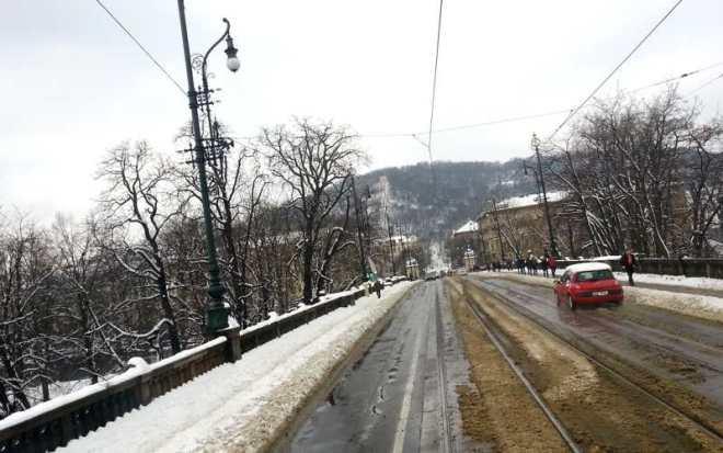 Bridge Legii with a view over Petrin Hill