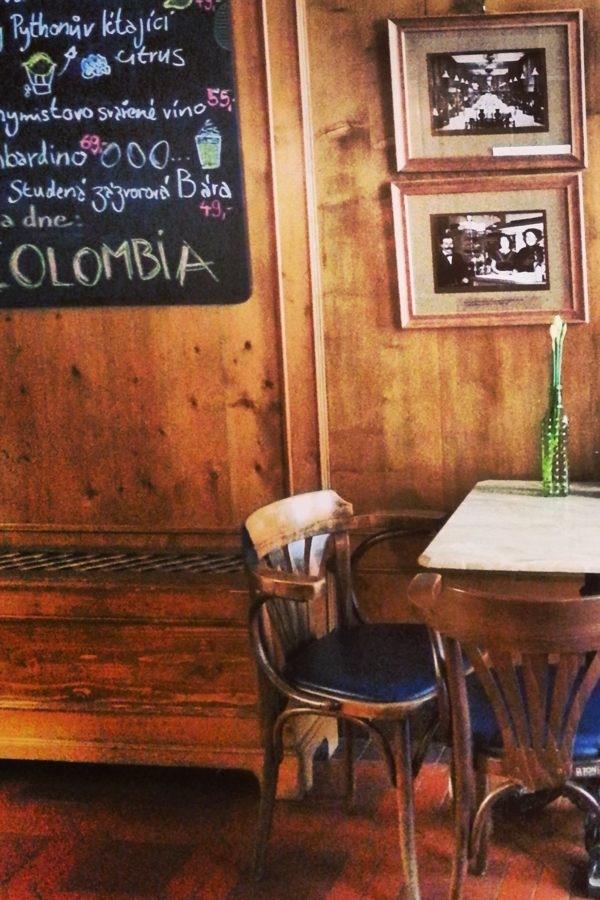 Interior of Alchymista cafe
