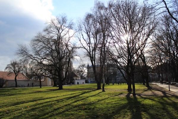 Kampa park, sunny winter at Christmas 2014