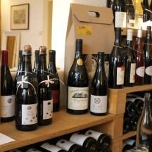 NaBrehuRhony_winebar_cafe_Prague_bottlesofredFrenchWine