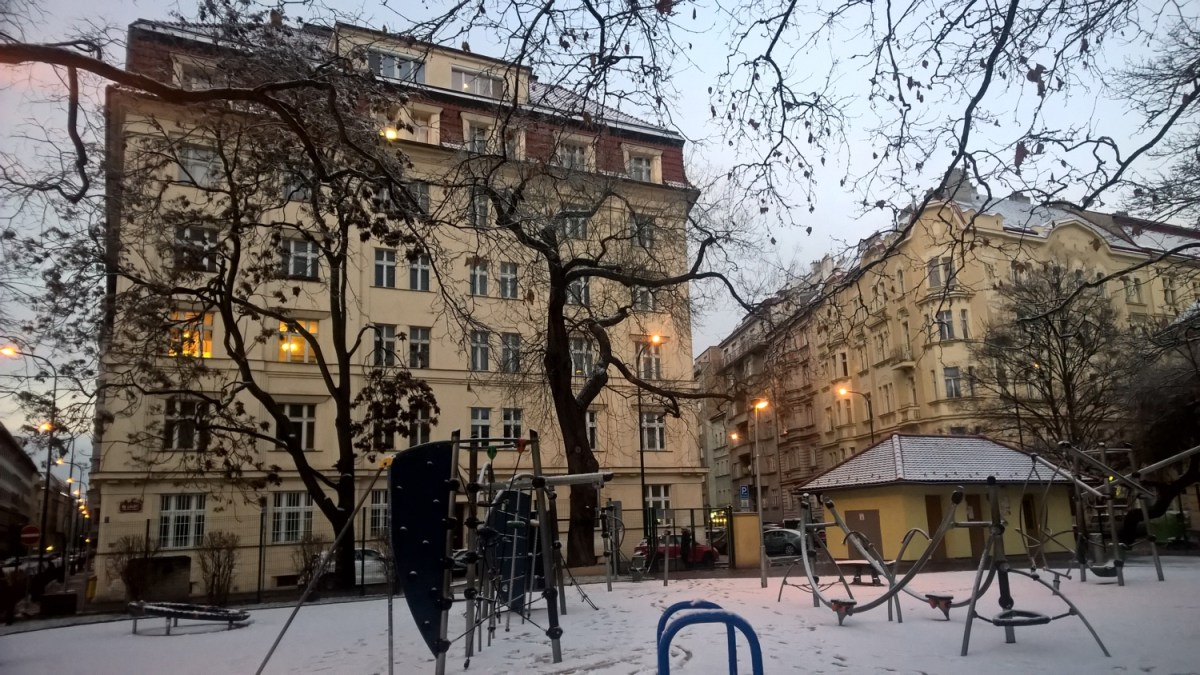 40 pictures of winter Prague