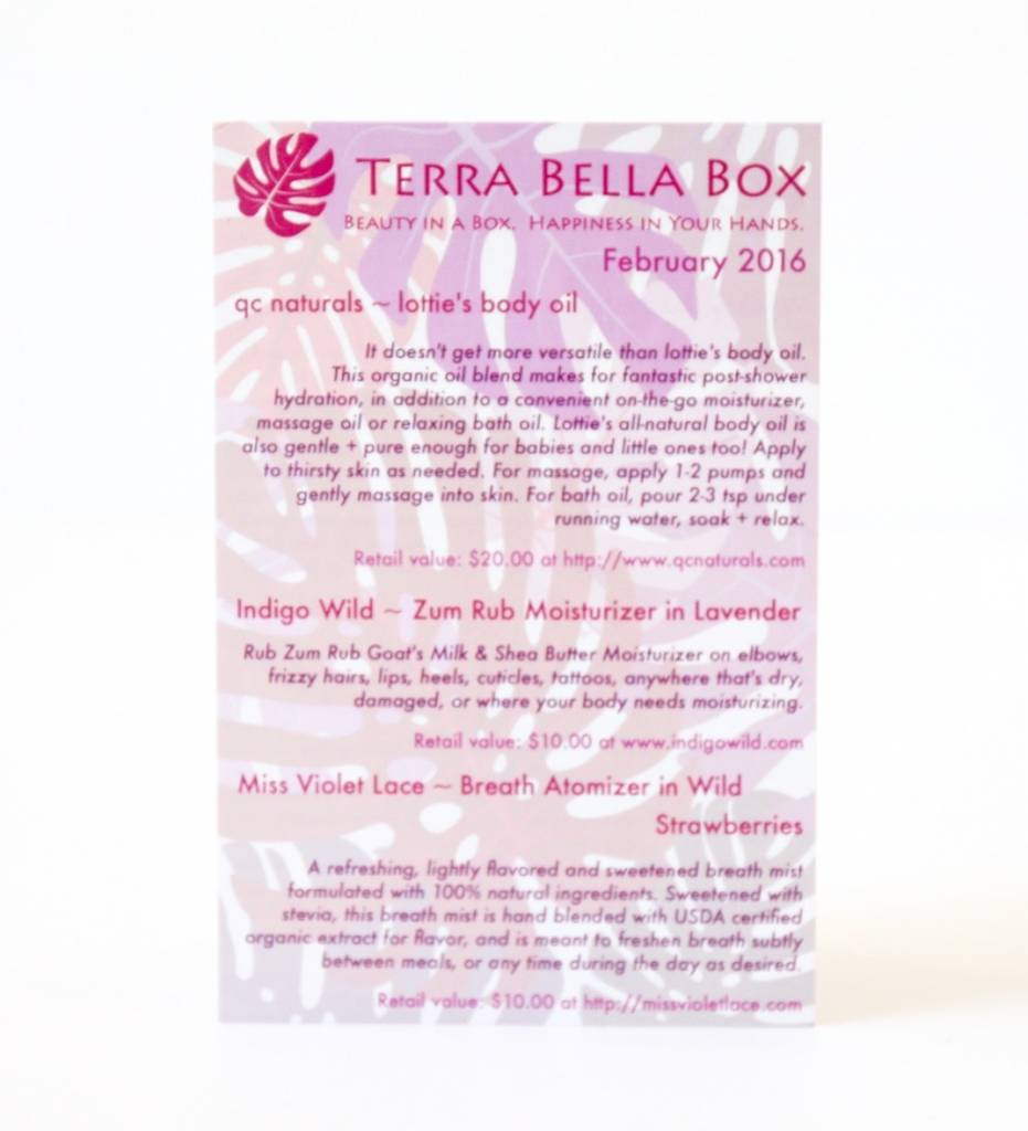 Terra Bella Box February 2016 7
