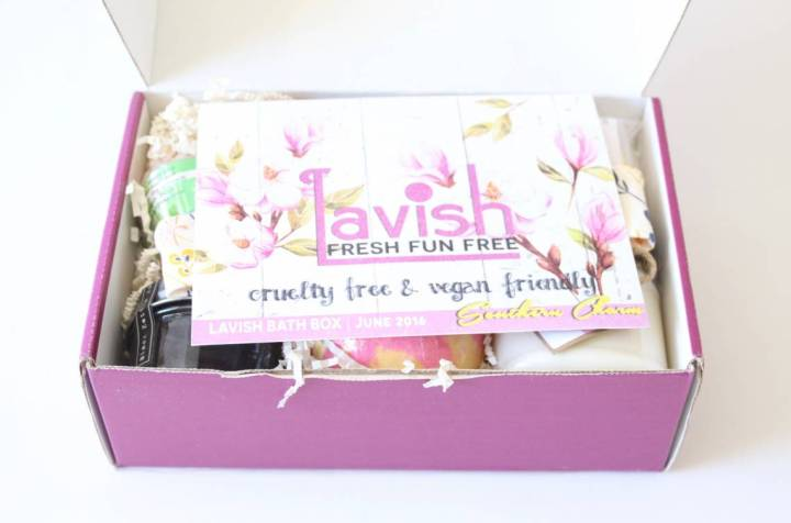 Lavish Bath Box Review June 2016 2
