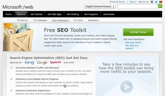 Microsoft-Free-SEO-Toolkit