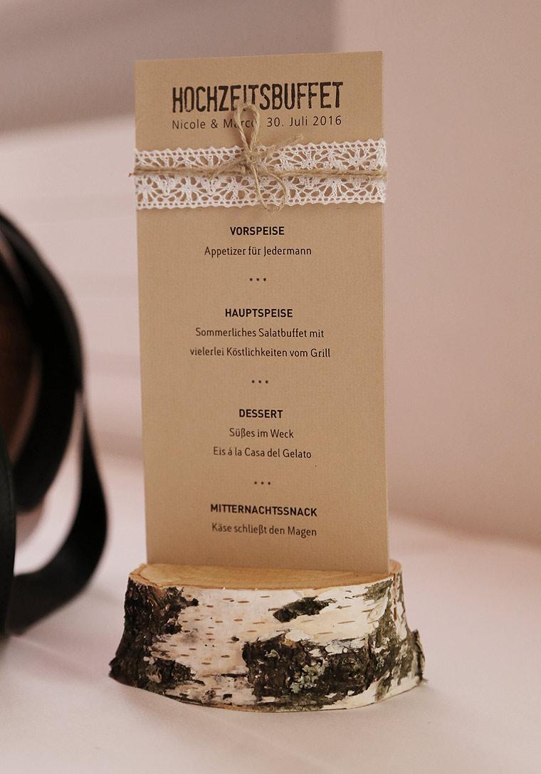 Menkarten Hochzeit handgefertigt in Ihrem Design