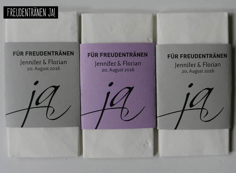 Taschentcher fr Freudentrnen I Tissues for tears of joy