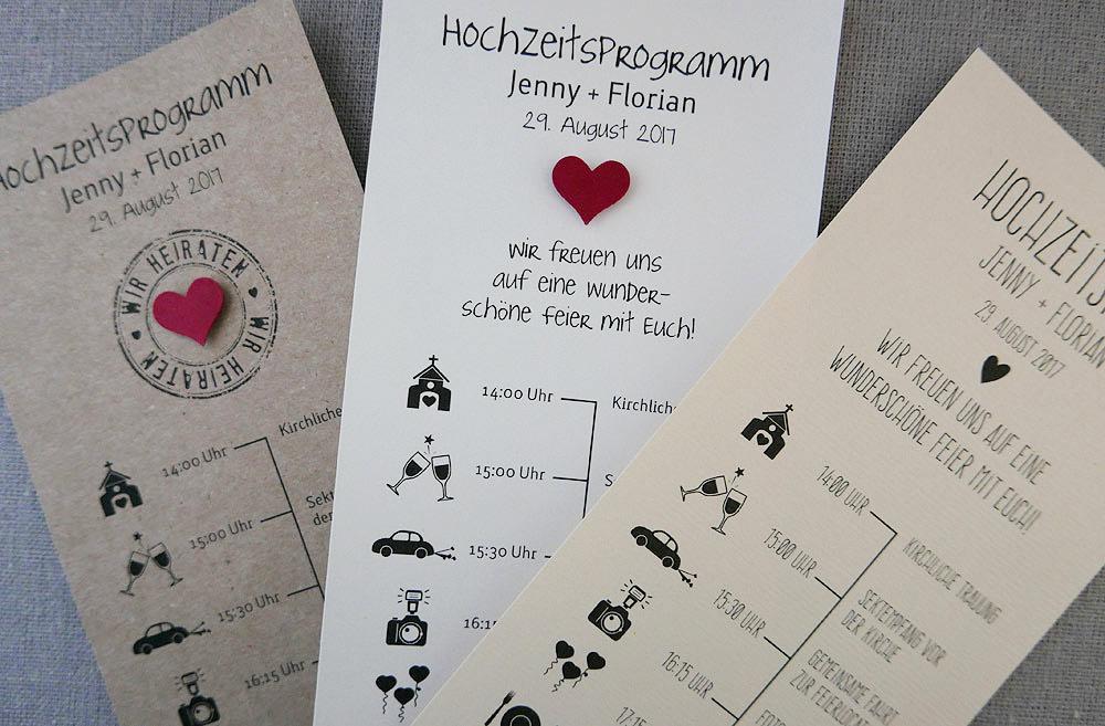 Hochzeitsprogramm  Zeitplan fr Ihre Hochzeitsgste