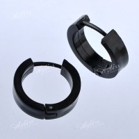 1 Pair 18ga Plastic Hoop Ear Stud Huggie Men's Earring ...