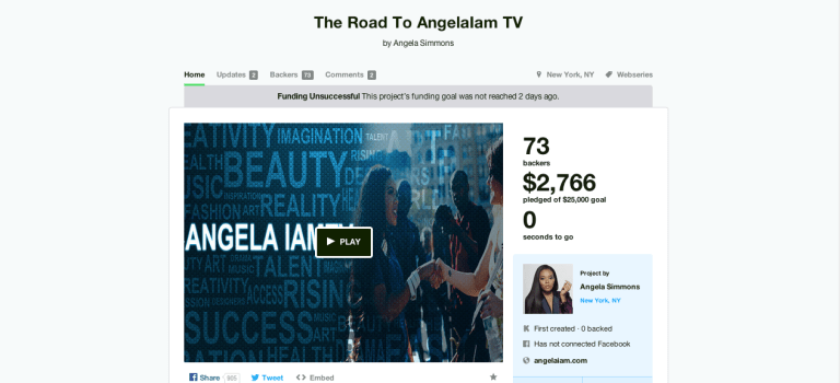 J Thoughts: A Look at Angela Simmon's Failed Kickstarter Campaign