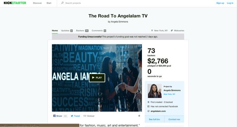Kickstarter | The Road To AngelaIam TV