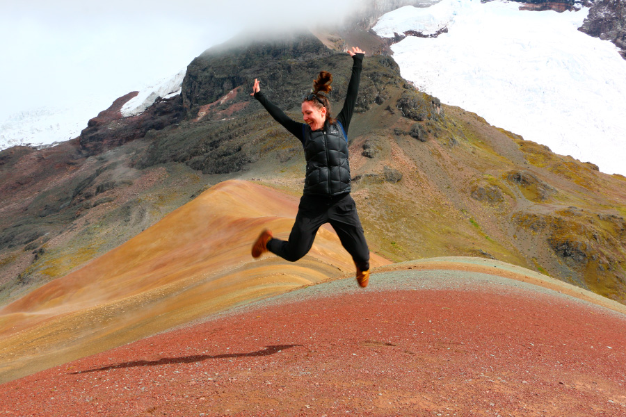 Rainbow Mountain Peru Authentic Happy People Ayni Peru