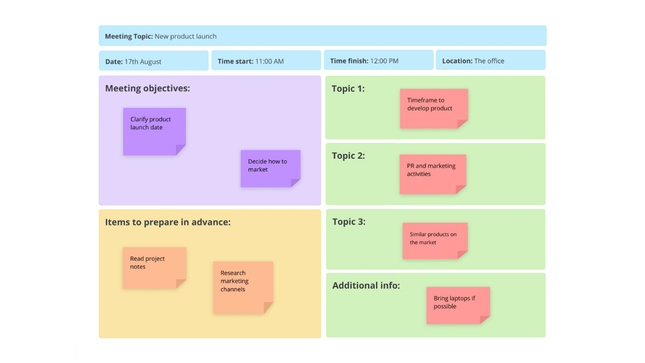 To replace text on the agenda template, just select a paragraph and start typing. Meeting Agenda Template Ayoa Templates