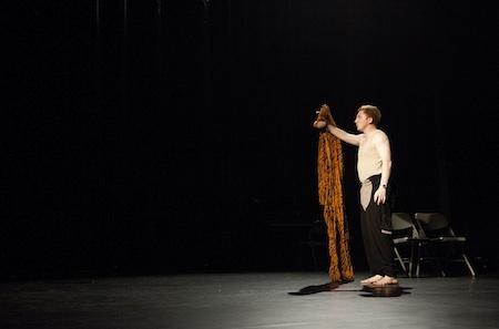 Billy Seymour in Secret Theatre Show 1. Photo (c) Alexandra Davenport