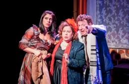 LR Lara Stubbs (Lesley), Sue Kelvin (Rita), Robert Maskell (Victor). Bar Mitzvah Boy Production Stills March 2016