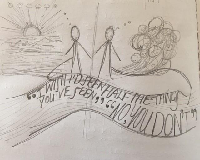 Mirren Wilson – a sketch inspired by the piece