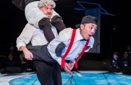 Production shot from Get Happy at the Greenwich + Docklands International Festival