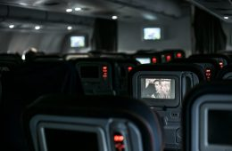 A plane with a sole TV screen on