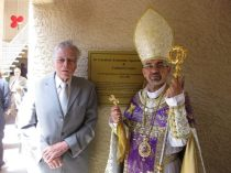 Larry Barnes and H.E. Archbishop Moushegh Mardirossian During Inauguration of St. Garabed Cultural Center - May 23, 2010