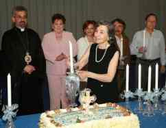 Seda Der Garabedian-Barnes Lighting the First Anniversary Banquet Candle - March 10, 2007