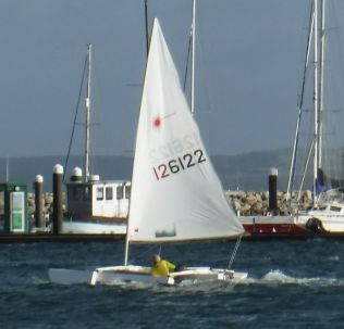Fred sailing after a tow start