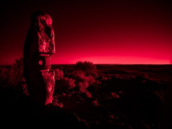 IR Broken Hill sculptures at sunset