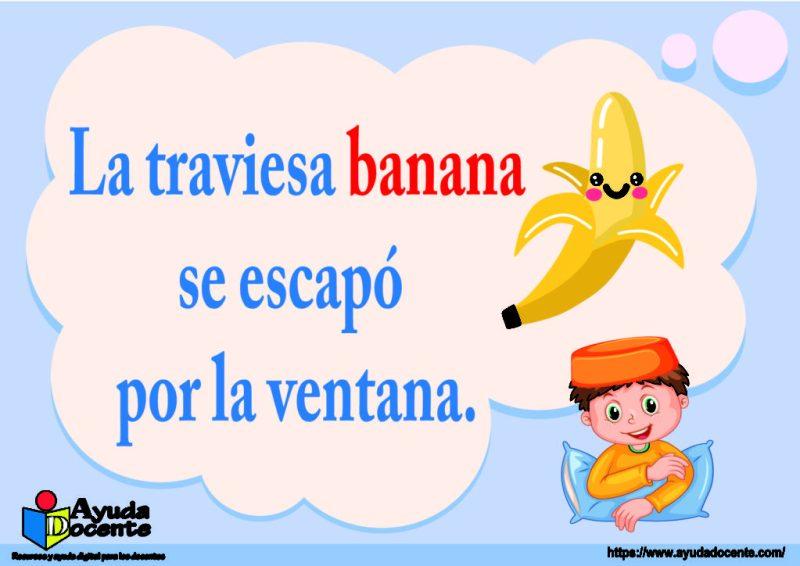 rima de banana frutas