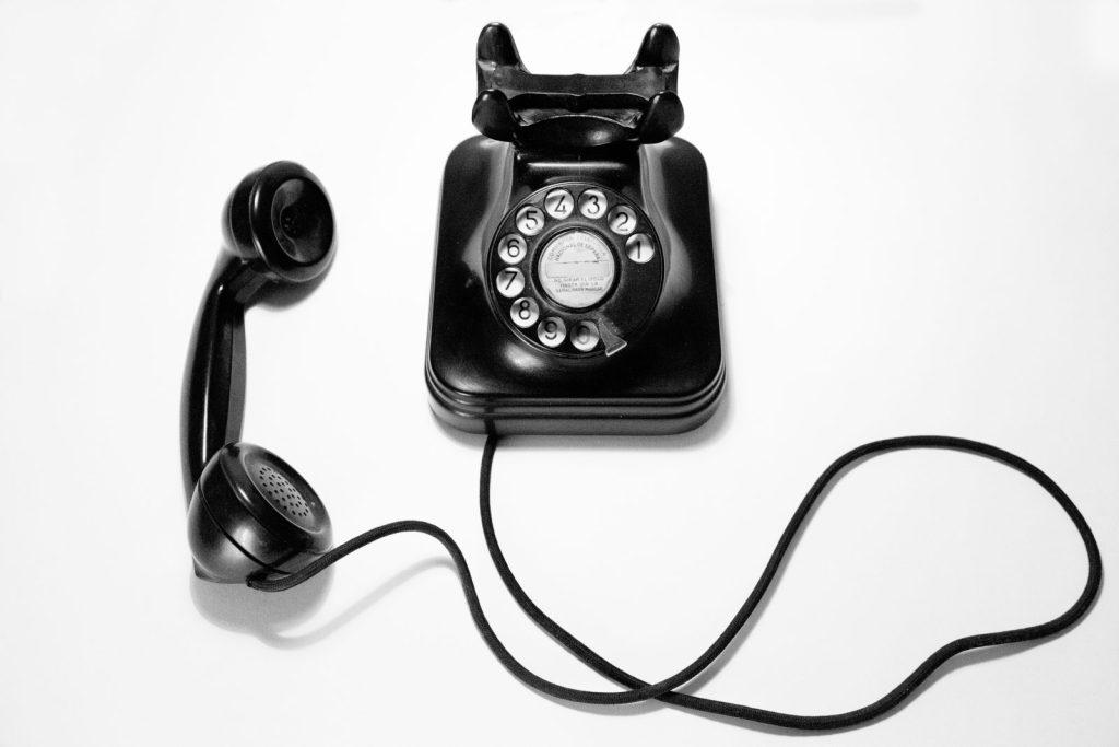 Image of a phone. Imágen de un teléfono