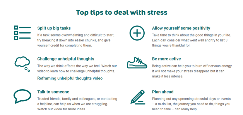 Tips to deal with Stress