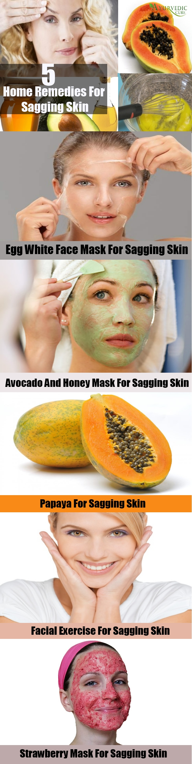 5 Home Remedies For Sagging Skin