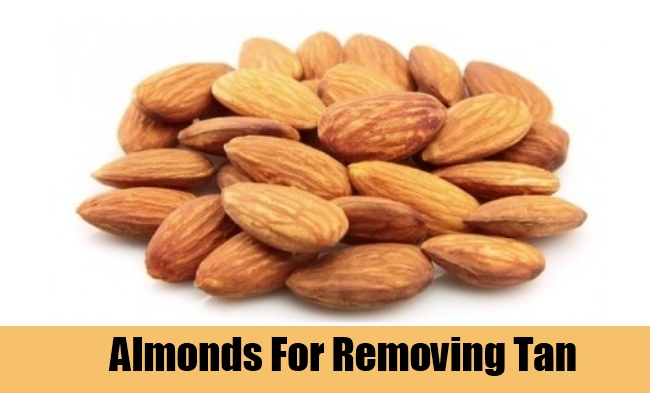 Almonds For Removing Tan