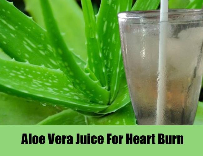 Aloe Vera Juice For Heart Burn