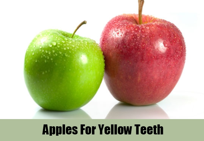 Apples For Yellow Teeth